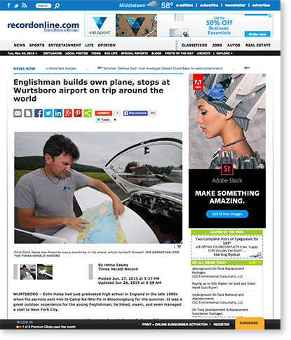 Englishman-builds-own-plane-Times-Herald-Record-June-2015