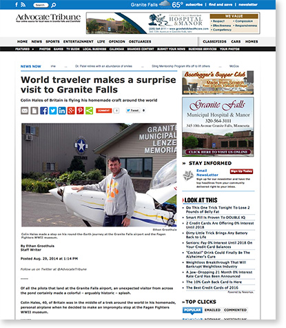 World-traveler-makes-a-surprise-visit-to-Granite-Falls---Advocate-Tribune-August-2014